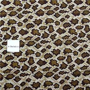 FabriQuilt Cotton Fabric Brown Snakeskin Pattern, Fat Quarters