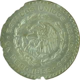 1958   UNC   Mexico   Peso   Silver   Coin   7439