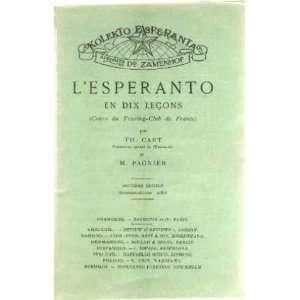 esperanto en dix leçons (cours du Touring club de france): Cart Th