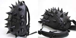 Black Red Spike Punk School Backpack / Mans & Womens Spiky College
