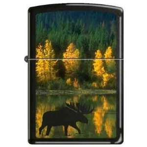 Zippo Custom Lighter   Autumn Moose RARE Health