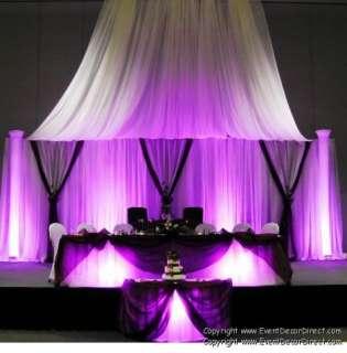 Curtain for Draping Wedding Backdrop, Party Drape Decor  WHITE
