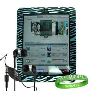 ipad Earphones with Microphone + Live * Laugh * Love VG Silicone Wrist
