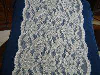NYLON SHEER LACE 14 WIDE IVORY FLORAL 20 YDS #9