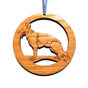 Laser Etched German Shepherd Dog Ornaments   Set of 6 by CAMIC designs