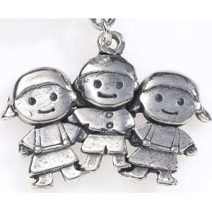 Silver, Smaller, Two Girls And One Boy, Friends,Tripletts, Traditional
