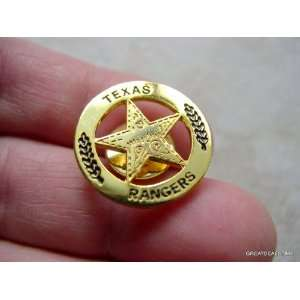 GOLD TONE WALKER TEXAS RANGER MINI BADGE STAR SHIRT PIN