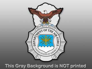 Air Force Security Sticker   decal department US police