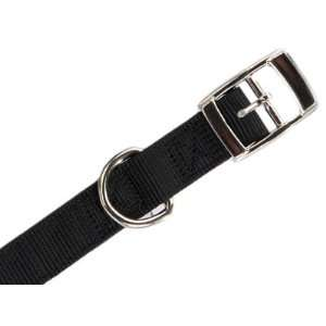 Guardian Gear Black Sturdy Double Layer Thick Nylon Dog Collar 19 22