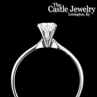 .46Ct. Diamond Solitaire 14 Karat White Gold Engagement Ring