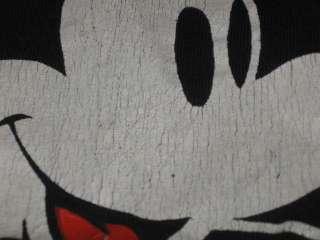 MICKEY MOUSE BLACK T Shirt SMALL/MEDIUM walt disney world soft