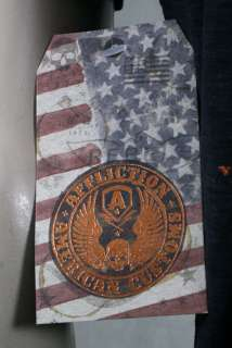 AFFLICTION Mens LIVE FAST V neck shirt henley lava wash skull cross