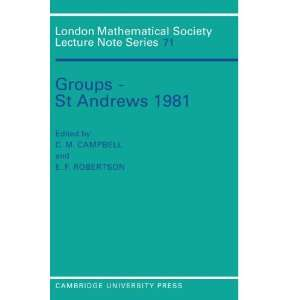 Groups   St Andrews 1981 (London Mathematical Society