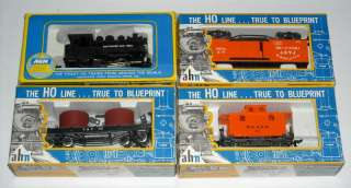Vintage AHM HO Scale Train Set w/ 5 Locomotives Lot 45pc Electric