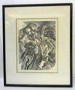 c1955 Marion Greenwood NY Orig Litho Voodoo Dancers