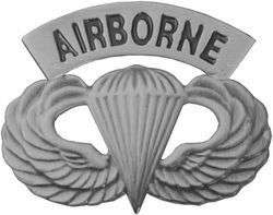 AIRBORNE Army Paratrooper Jump Wing