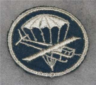 100% ORIGINAL WW2 US AIRBORNE PARATROOPER GLIDER CAP PATCH NO GLOW