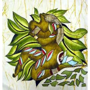 High Quality Chinese Hand Painting Batik Tapestry Art