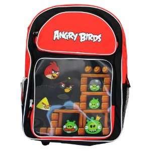 Angry Birds Helmet Pig Lenticular Large Backpack Bag Tote 16