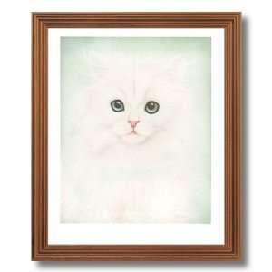 Persian Kitty Cat Kitten Kids Room Animal Home Decor Wall Picture Oak