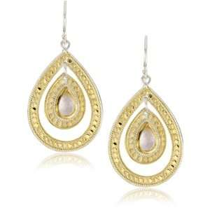 Anna Beck Designs Gili Rose Quartz Double Drop Earrings