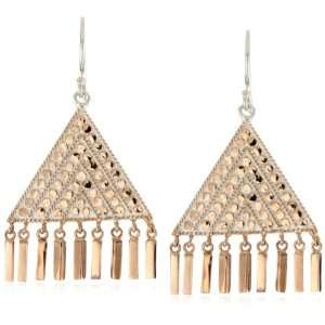 Anna Beck Designs Lombok 18k Rose Gold Plated Triangle Bar Earrings