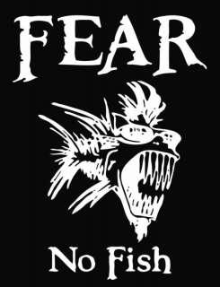Fear No Fish Die Cut Vinyl Decal Sticker