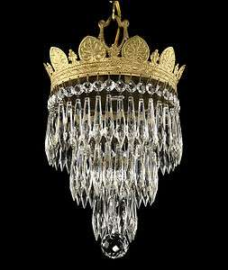 Antique Silver Gold Wedding Cake Chandelier Victorian Vintage Deco