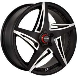 Panther Scream 18x7.5 Black Wheel / Rim 5x4.5 with a 45mm Offset and a