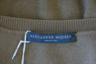 ALEXANDER MCQUEEN Brown CASHMERE&Sequin Striped Knit Sweater Vest Top