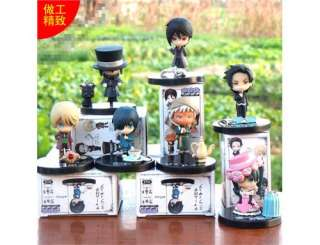 Japan anime Black Butler Kuroshitsuji Ciel mini figures toy set 7 pcs