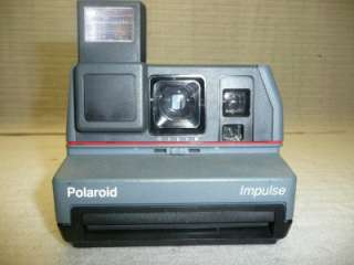 Polaroid Impulse Camera With Pop Up Flash Vintage Retro Antique 1970s