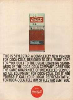 1967 Coke Coca Cola Stylestar Vending/Soda Machine Ad