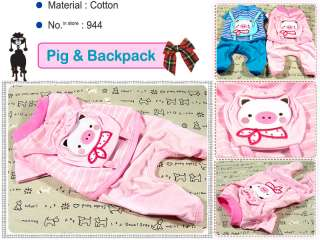 Small Dog Clothes Pig Costume Coat Backpack Jersey ,944