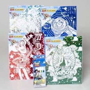 New   Disney Toy Story Foil Art Boards and Markers Case Pack 240 by