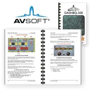 Dash8Q 300 (Quick Study Guide, De Havilland): Avsoft: Books