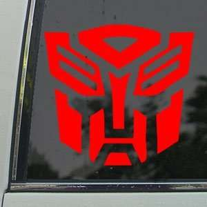 TRANSFORMERS Red Decal AUTOBOT LOGO MOVIE Window Red