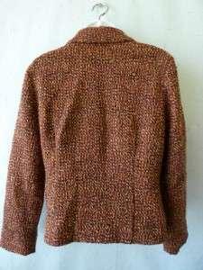 JILL Artisan Boucle Wool Blnd Tweed Blazer Jacket~4~S