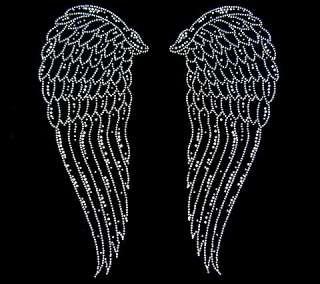 CRYSTAL RHINESTONE ANGEL FAIRY WINGS GOTHIC SWEATSHIRT