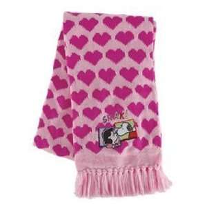 Snoopy and Lucy Kissing Pink Hearts Peanuts Scarf: Toys & Games