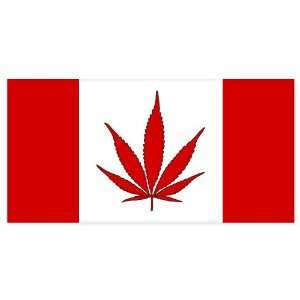Canada Weed Cannabis Pot Flag car bumper sticker 6 x 3