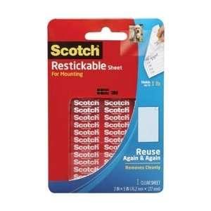 3M Scotch Reusable Sheet 3X5 1/Pkg Clear; 4 Items/Order