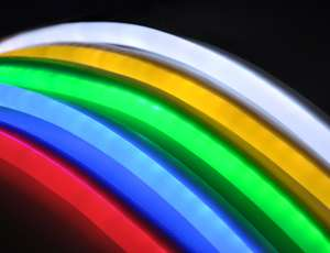 50 Blue Led Neon Rope Light Flex Tube Sign Decorative