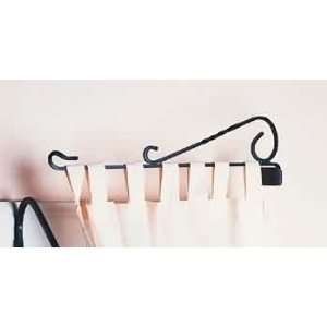 Curtain Rods Black Wrought Iron, 22 long and 6 in