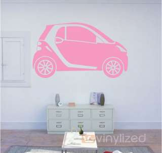 Smart Car Mercedes Benz Flat Vinyl Wall Art Decoration