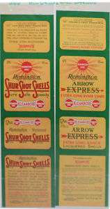 Original Unused Shell Box Labels Remington UMC