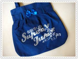 SJ SUPER JUNIOR KPOP KISS E.L.F CANVAS BAG NEW