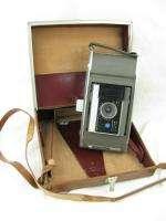 Vintage Polaroid Land Camera Model J66 Instant Color Film w/Leather