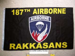 US/U.S. ARMY 187TH AIRBORNE RAKKASANS FLAG 3X5