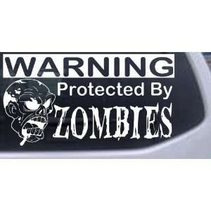 Protected By Zombies Funny Car Window Wall Laptop Decal